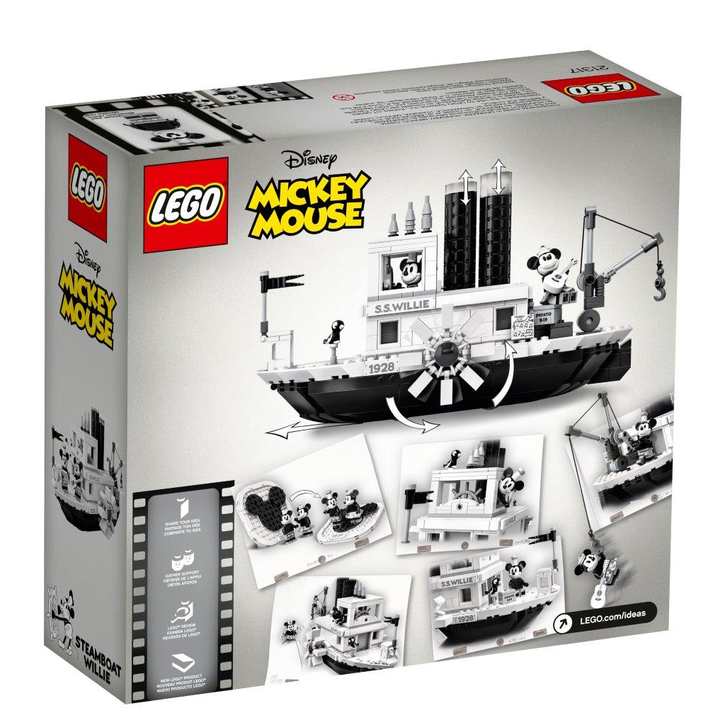 May The 4th Be With You Disney 2019: LEGO Ideas Disney Steamboat Willie (21317) Set Coming Soon