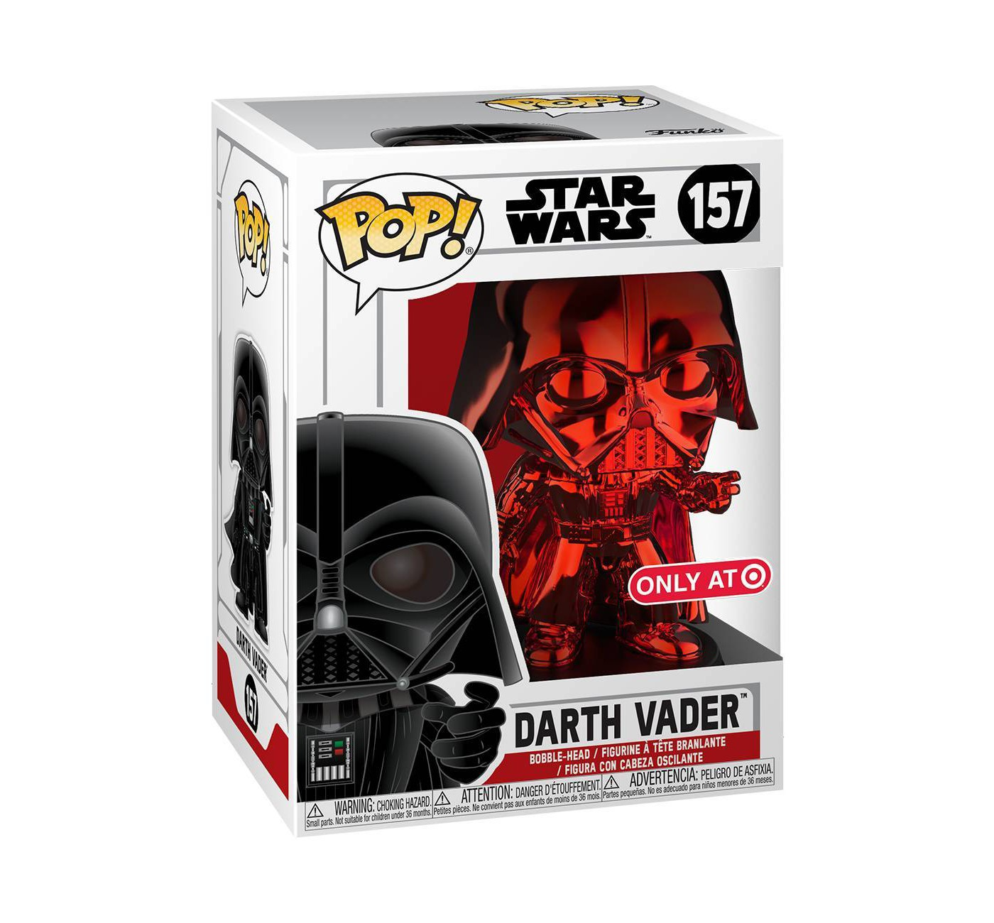 Red Chrome Darth Vader Pop Vinyl Out Now At Target