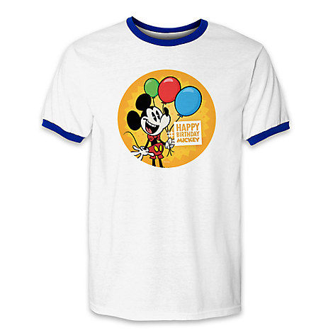 Happy Birthday Mickey Mouse Limited Release T Shirts Out Now