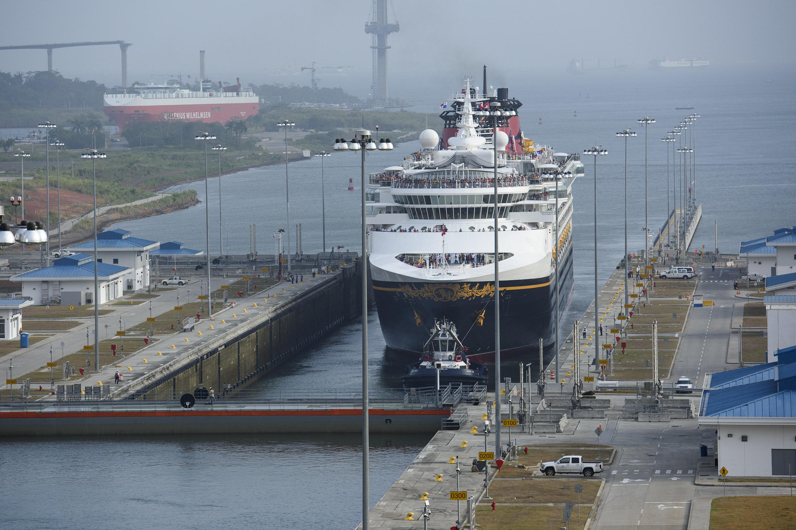 Disney Wonder Becomes First Passenger Vessel To Transit