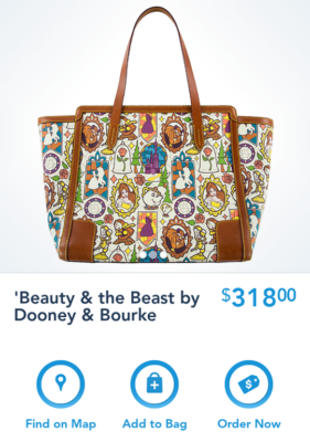 New Disney Dooney Bourke Beauty The Beast Collection Released Today On The Shop Disney Parks App Diskingdom Com Disney Marvel Star Wars Merchandise News
