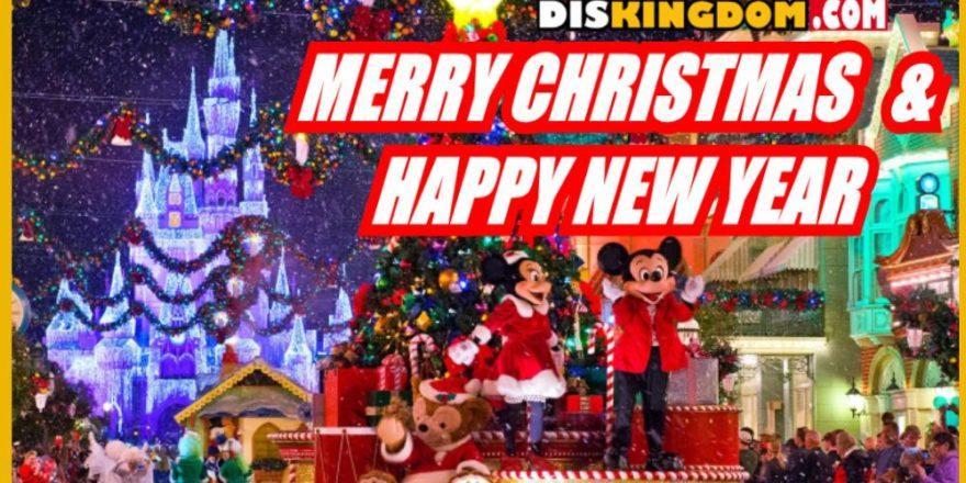 Merry Christmas Disney.Merry Christmas Happy New Year Diskingdom Com Disney