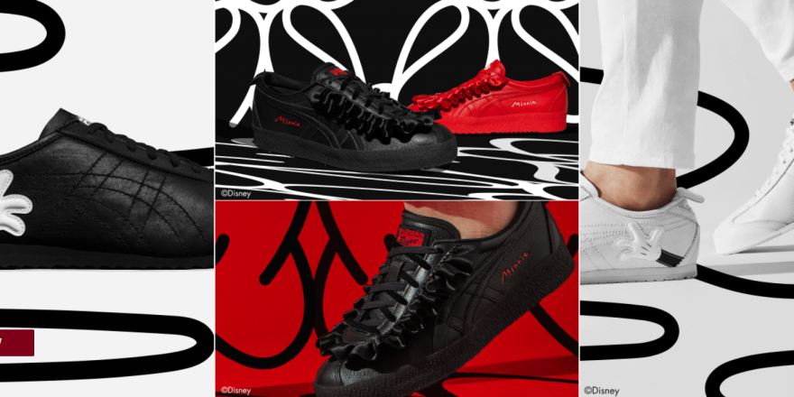 new style d1d77 b2d35 New Mickey & Minnie Mouse Onitsuka Tiger Shoe Collection ...