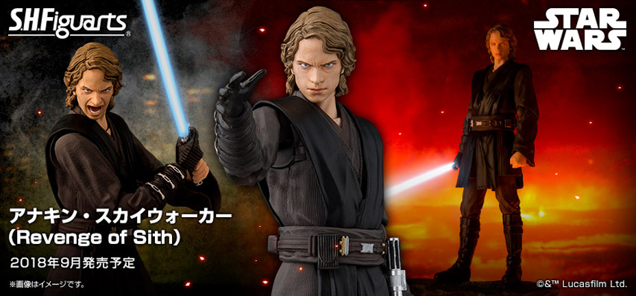 S H Figuarts Star Wars Episode Iii Revenge Of The Sith Anakin Skywalker Figure Coming Soon Diskingdom Com Disney Marvel Star Wars Merchandise News