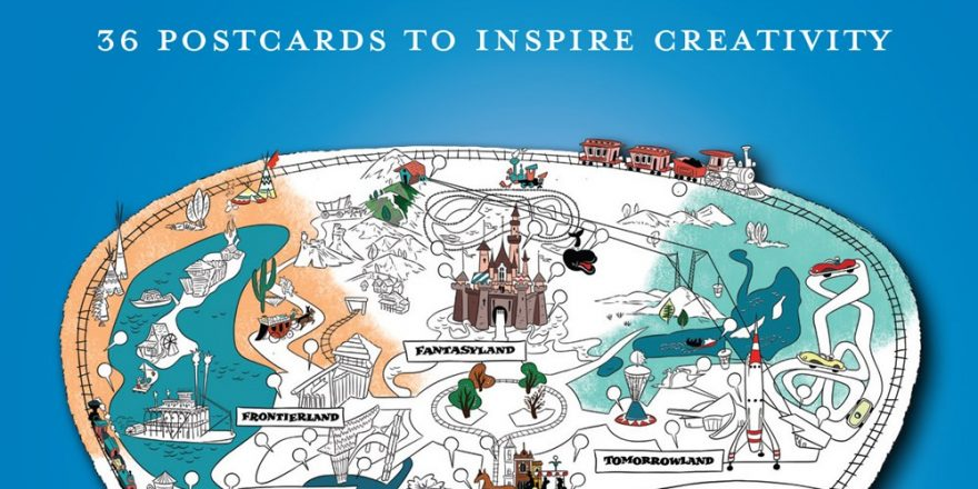 picture relating to Disney Printable Maps referred to as Artwork of Coloring: Maps of the Disney Parks: 36 Postcards in the direction of