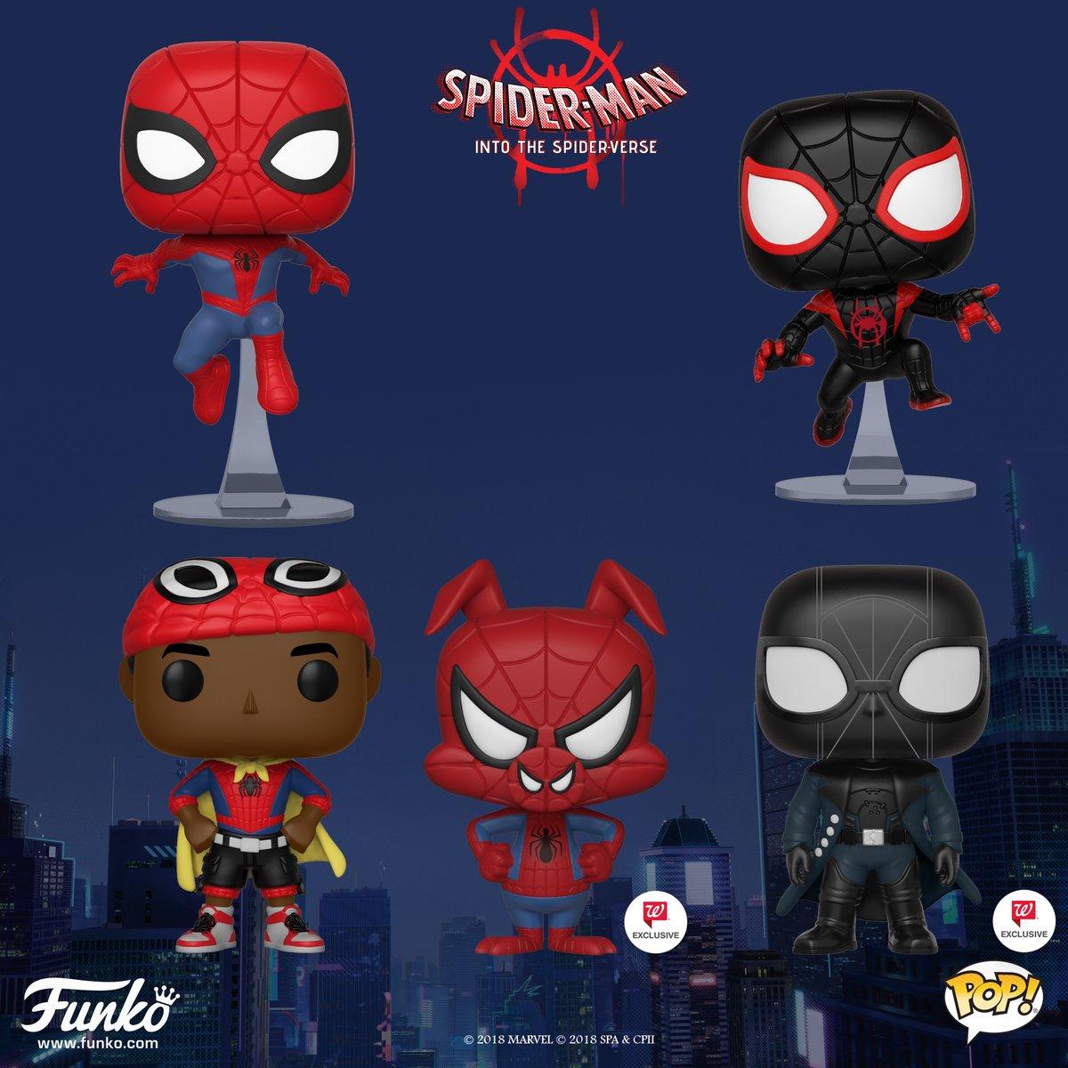 Into the Spider-Verse Spider-Man Noir No Hat US Exclusive Pop! Spider-Man